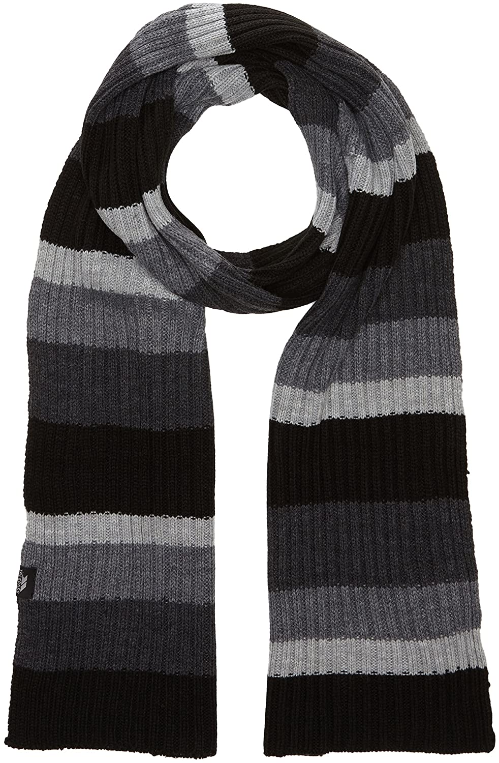 Trespass Mens Rowen Striped Winter Scarf (One Size) (Black) MAHSSCH20001_BLKEACH