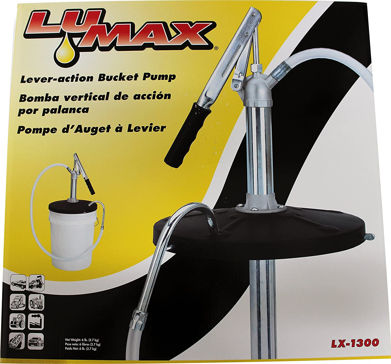 Lumax LX-1300 Black Lever-Action Bucket Pump for 5 Gallon Pails