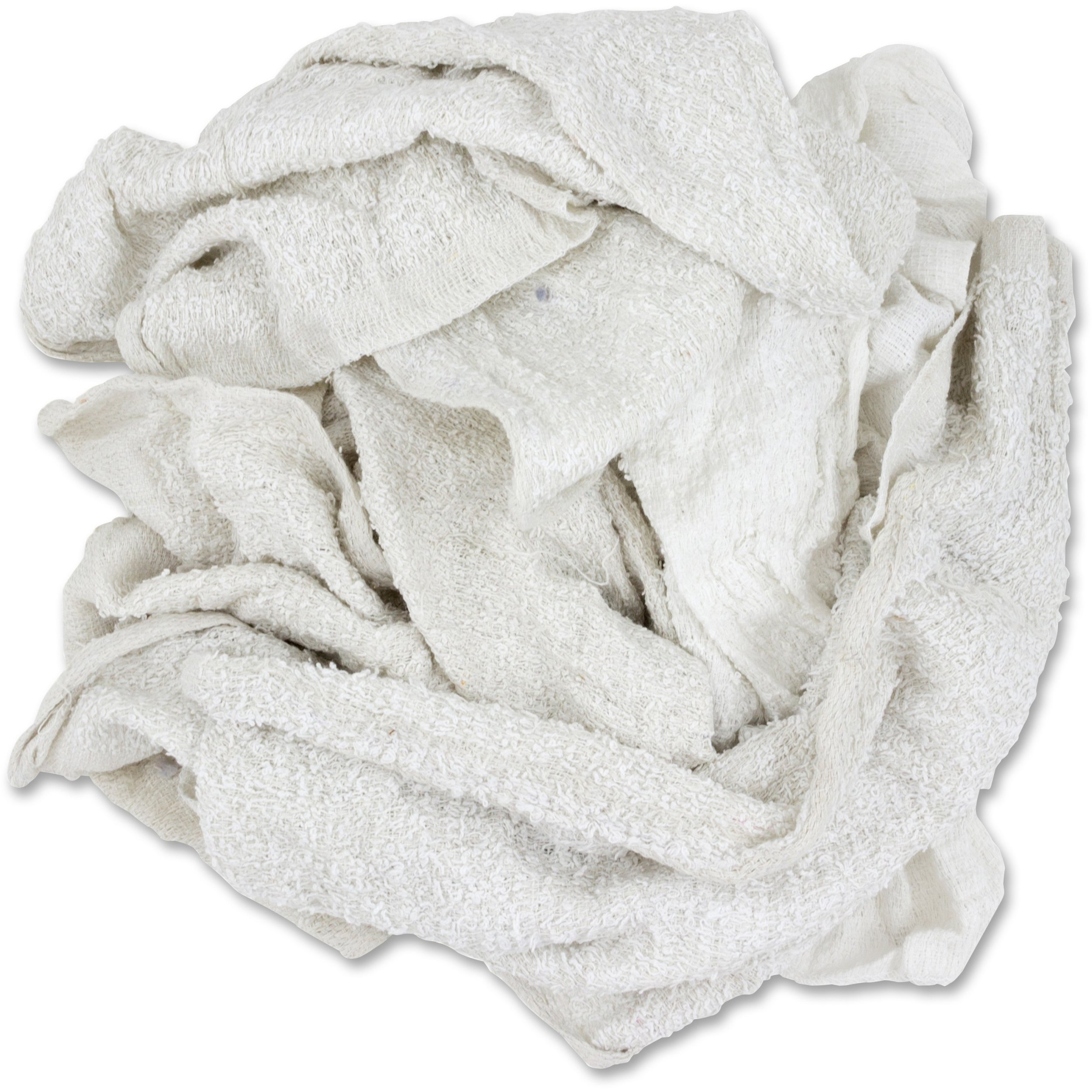 The Tranzonic Companies Dba Hos 537-25 Terry Towel Rags White 25 Lbs HOS 537-25 by NuTrend