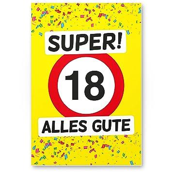 Dankedir 18 Alles Gute Kunststoff Schild Gelb Geschenk