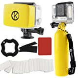 Amazon Price History for:CamKix Accessory Bundle for Gopro Hero 4, Black, Silver, Hero+ LCD, 3+, 3, 2, 1 including Floating Hand Grip / Floater/ Anti-Fog(Yellow)