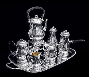 Plata de Ley, siglo XIX, Louis XVI, juego de té