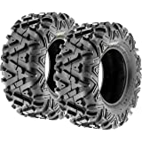 SunF A033 ATV/UTV Tires -- 25x11-12 -- 6 Ply | Pair of 2 | All-Terrain Off-Road