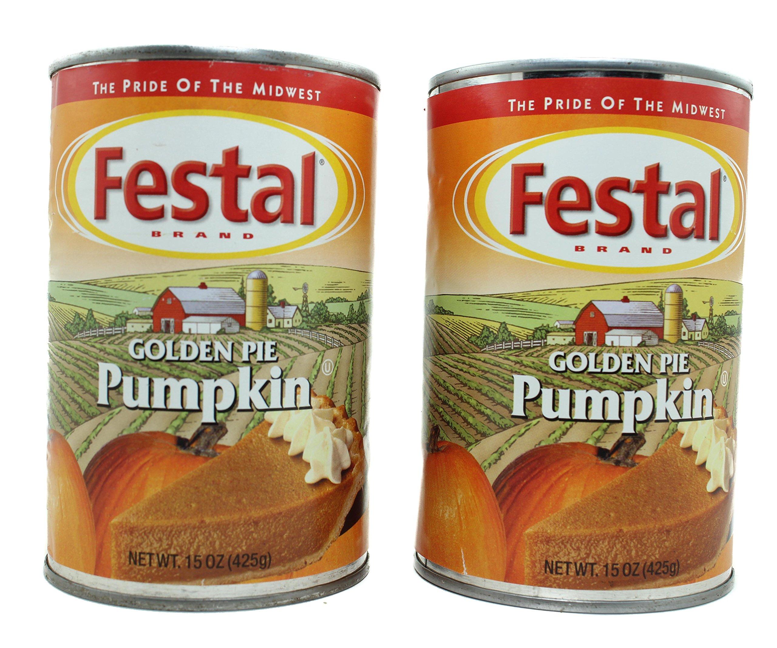 Festal Golden Pie Pure Pumpkin 2 - 15 OZ Cans