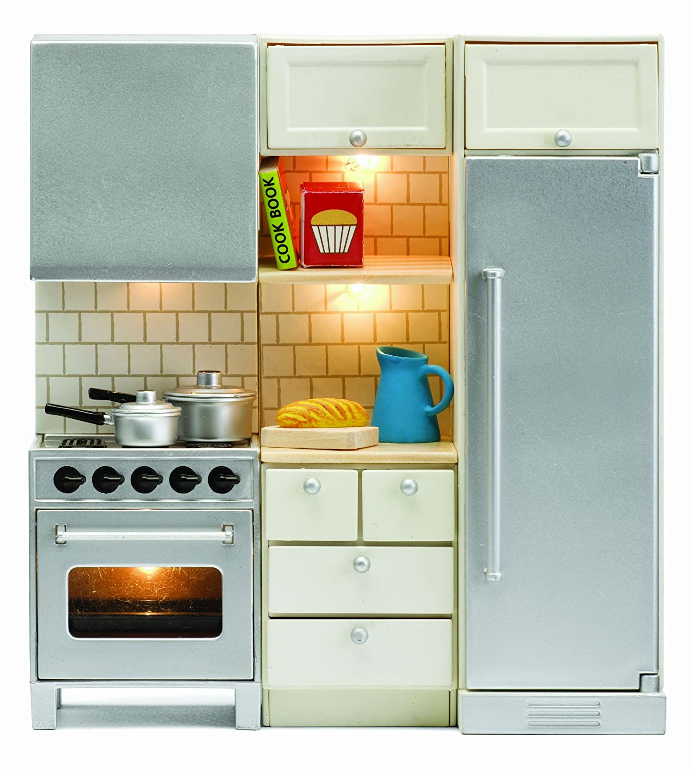 Amazon.com: Lundby Smaland Dollhouse Stove + Fridge Set: Toys & Games