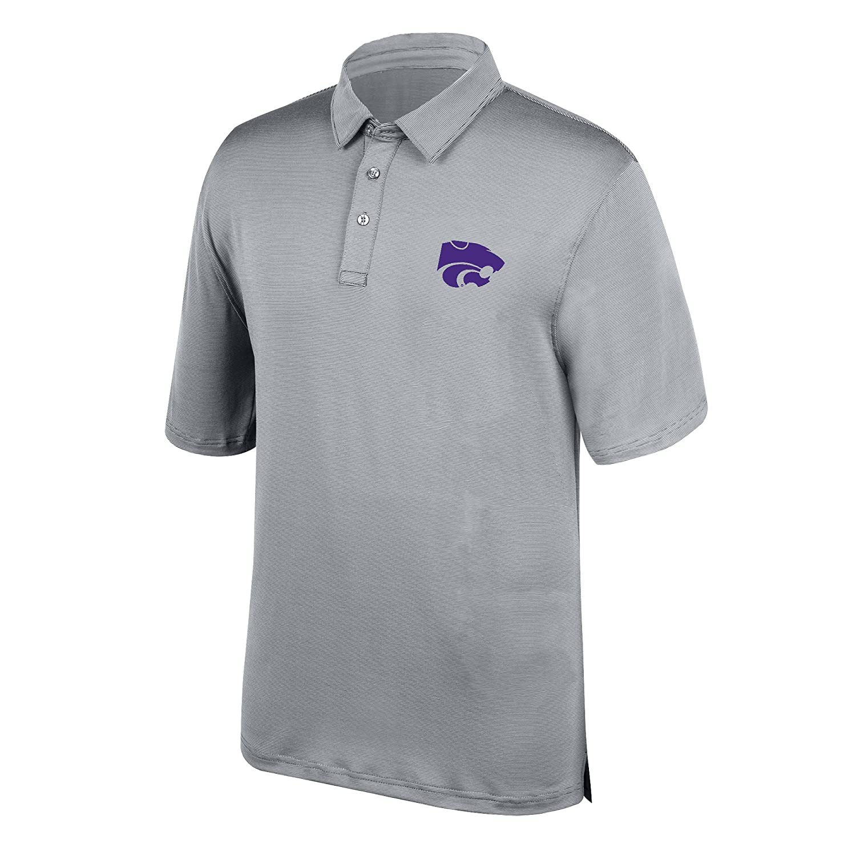 Cement Small J America NCAA Mens Kansas State Wildcats Yarn Dye Striped Team Polo Shirt