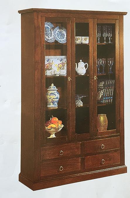 Vetrina classica da sala arte povera cristalliera: Amazon.it: Casa ...