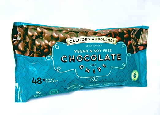 48 Cocoa Vegan Chocolate Chips Soy Free Dairy Free Kosher For Passover Gluten Free Nut Free 8 Oz Bags 3 Pack