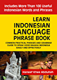 Learn Indonesian language Phrase Book: Common practical phrases and grammar guide to speak good Bahasa Indonesia easily and effectively (English Edition)