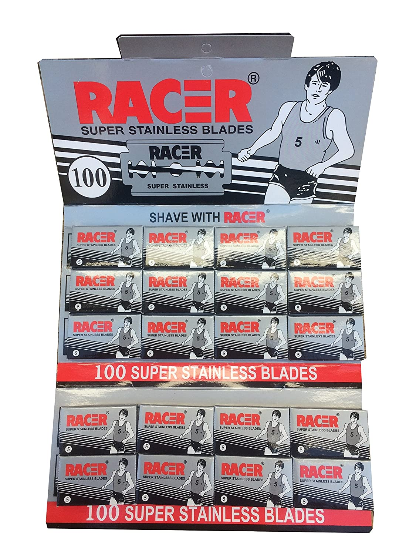 Racer Super Stainless Double Edge Safety Razor Blades, 100 blades (20x5)