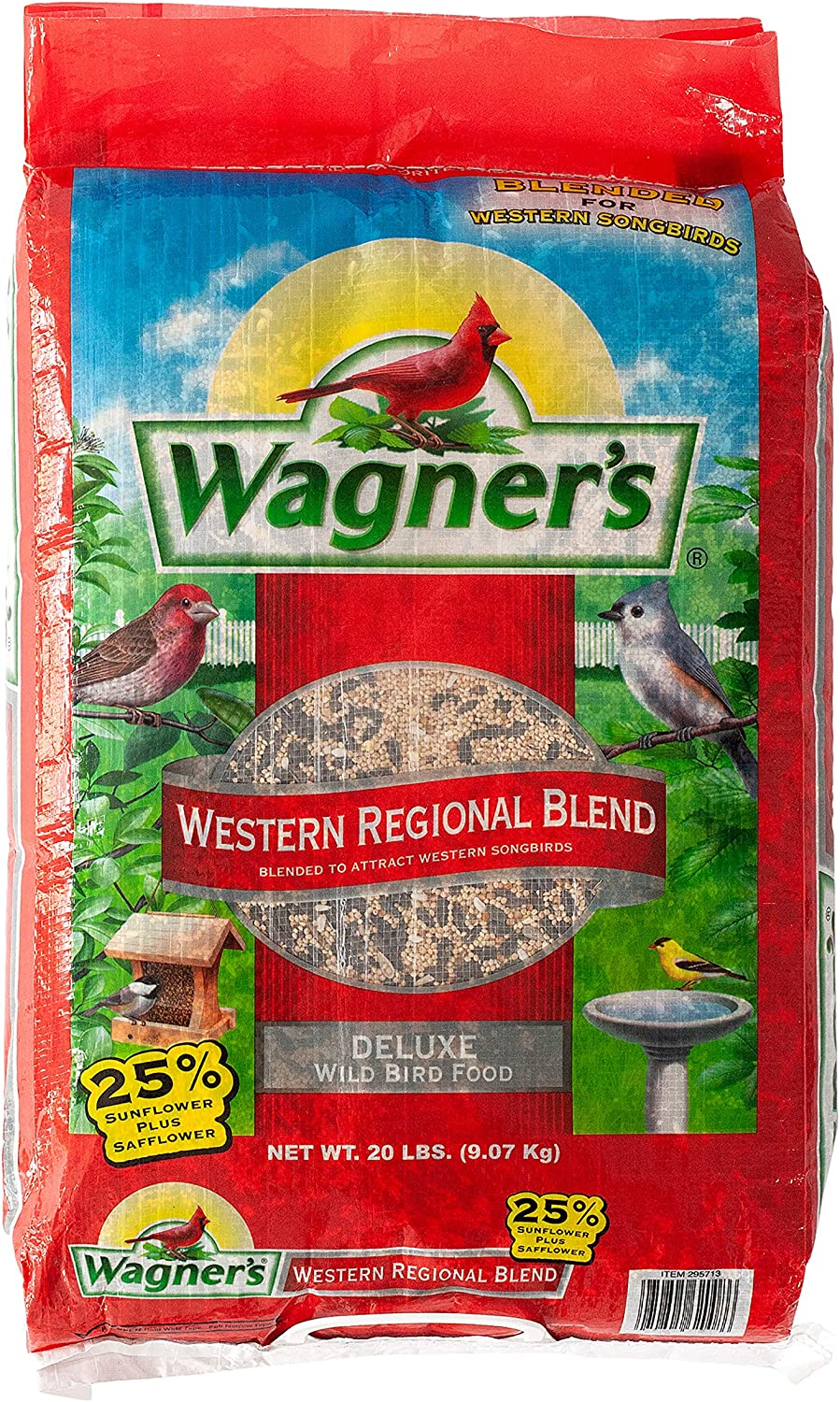 Wagner's 62008 Western Regional Blend Wild Bird Food, 20-Pound Bag