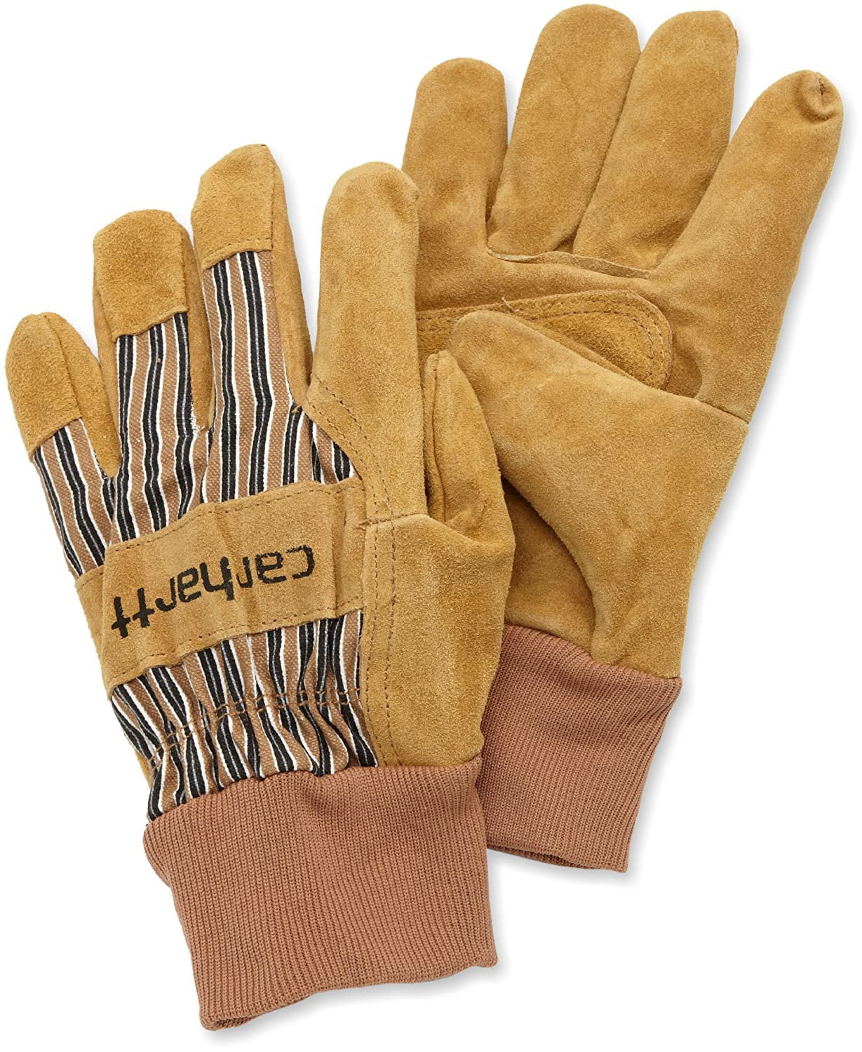 Insulated leather work gloves amazon - Carhartt Men S Suede Work Glove With Knit Cuff