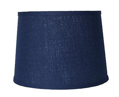 Urbanest Blue Burlap Drum Lampshade, 10x12x8.5