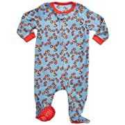 Leveret Kids Fleece Baby Boys Footed Pajamas Sleeper 100% Polyester (Motorcycle, Size 6-12 Months)