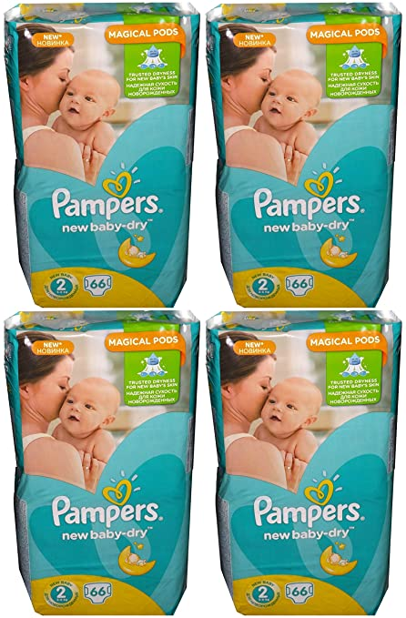 Pampers New Baby-Dry - Pañales (talla 2, 3-6 kg,