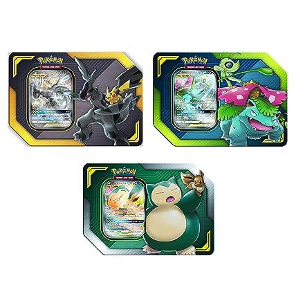 Amazon Com Pokémon Tcg Tag Team Tin S Pikachu Zekrom Eevee