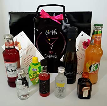 Simply Cocktails Pornstar Martini & Cosmopolitan Cocktail Gift Bag Set: Amazon.co.uk: Beer, Wine & Spirits