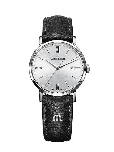 Maurice Lacroix Eliros Reloj de Quartz plata metálico: Amazon.es: Relojes