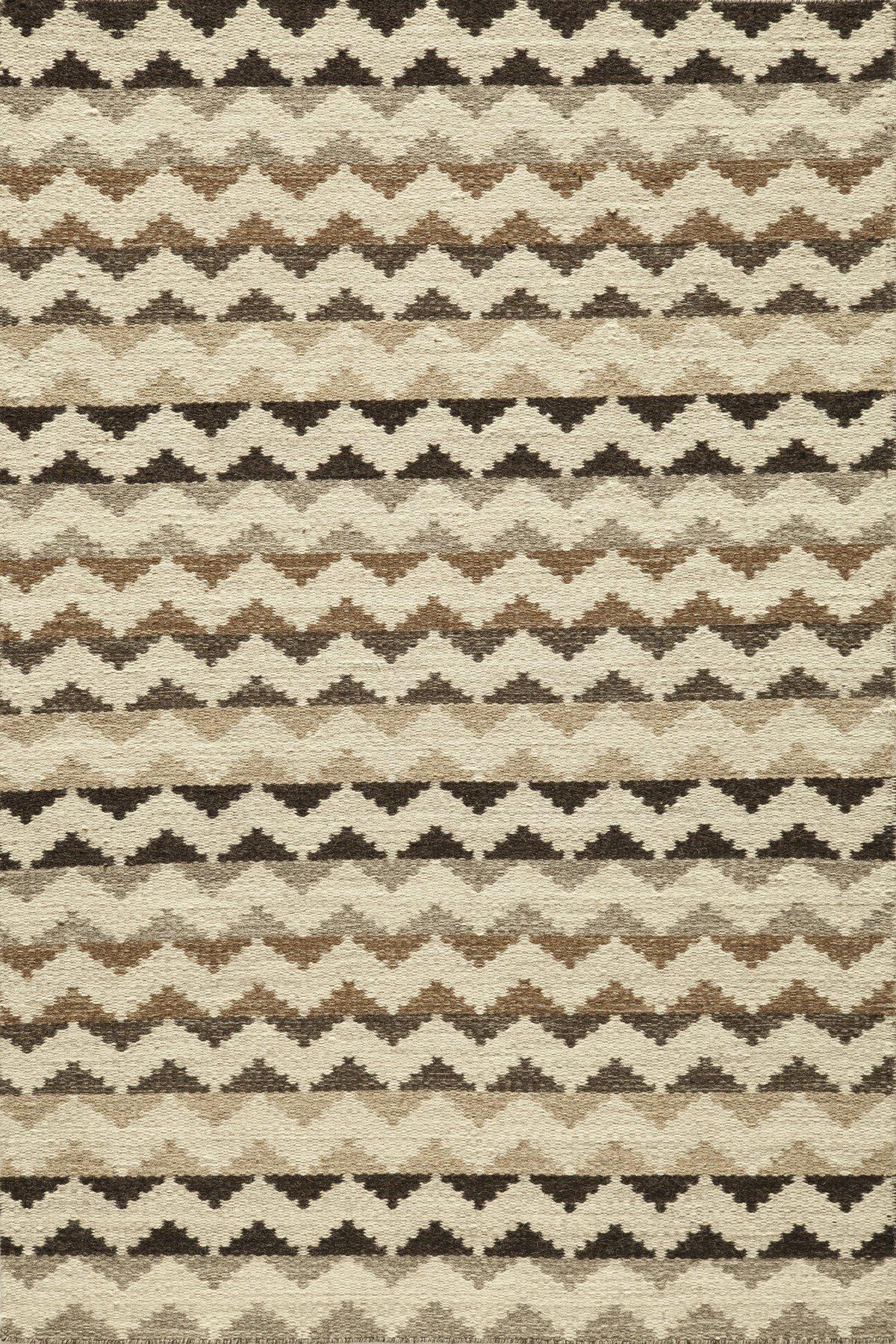 Momeni Rugs MESA0MES-5NAT5080 Mesa Collection, 100% Wool Hand Woven Flatweave Transitional Area Rug, 5' x 8', Natural Brown