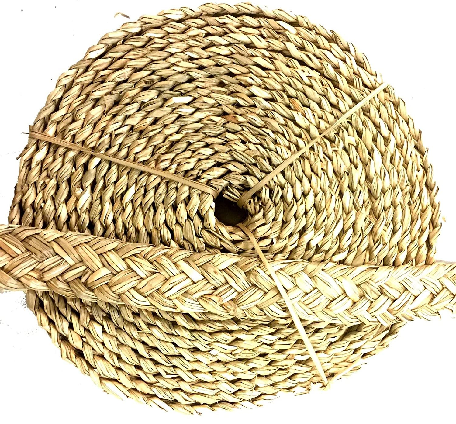Bonka Bird Toys 20ft Natural Seagrass Braided Rope Foraging Bird Craft Toy Chew Strips Parreds Rats Guinea Pigs DIY Home Decor.