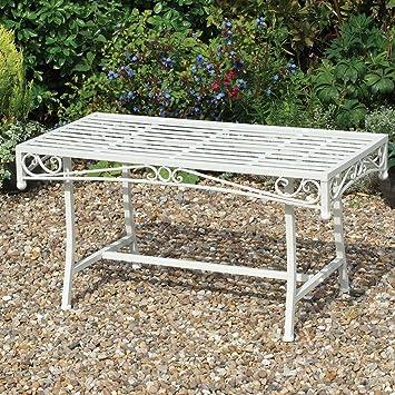 Table basse de jardin Table de jardin en métal Finition ...