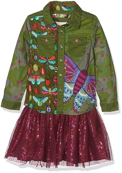 Desigual Vest_Butterfly, Vestido para Niñas: Amazon.es: Ropa y accesorios