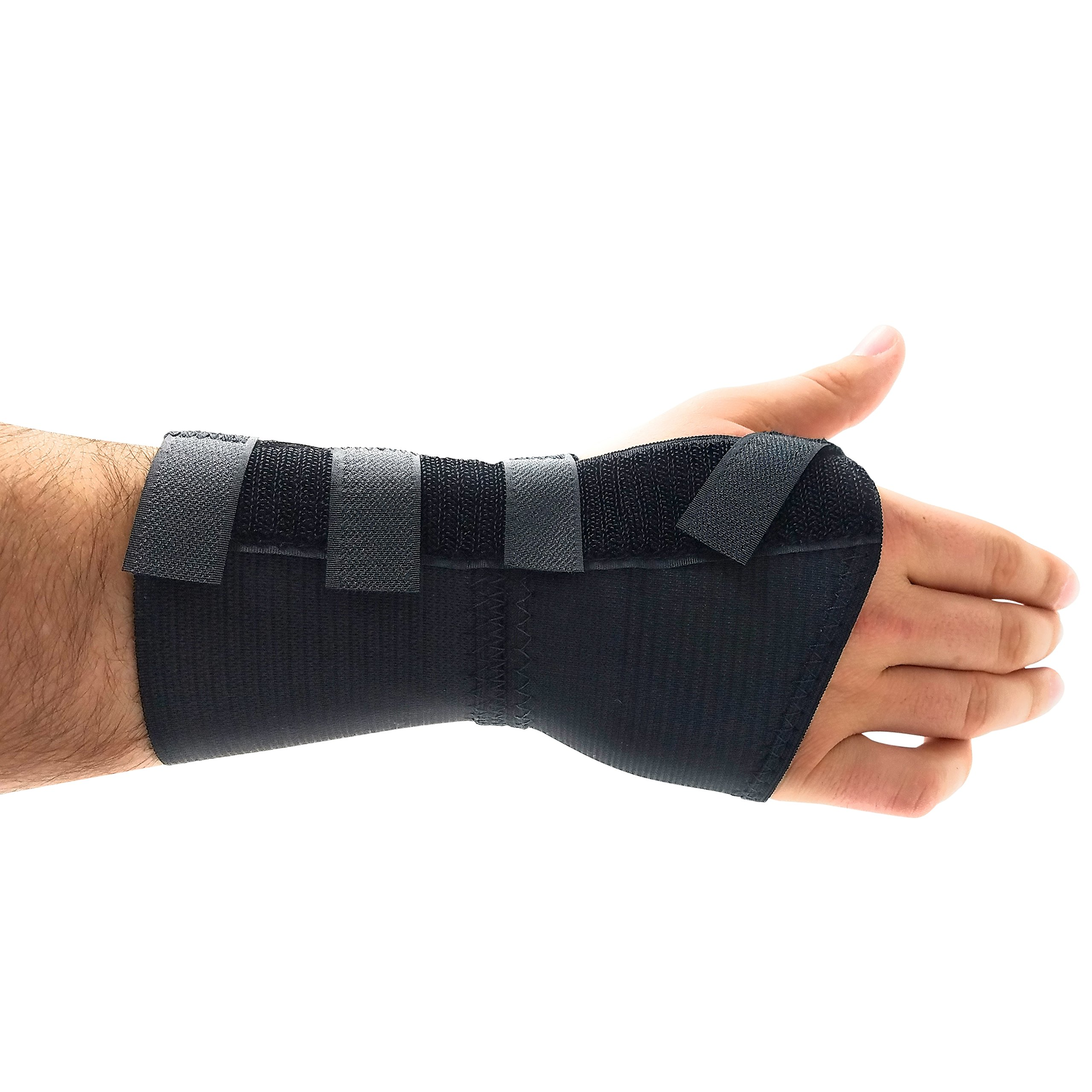 Premium Custom Wrist Brace Support - with Removable Metal Splint/Stays - Right - Small