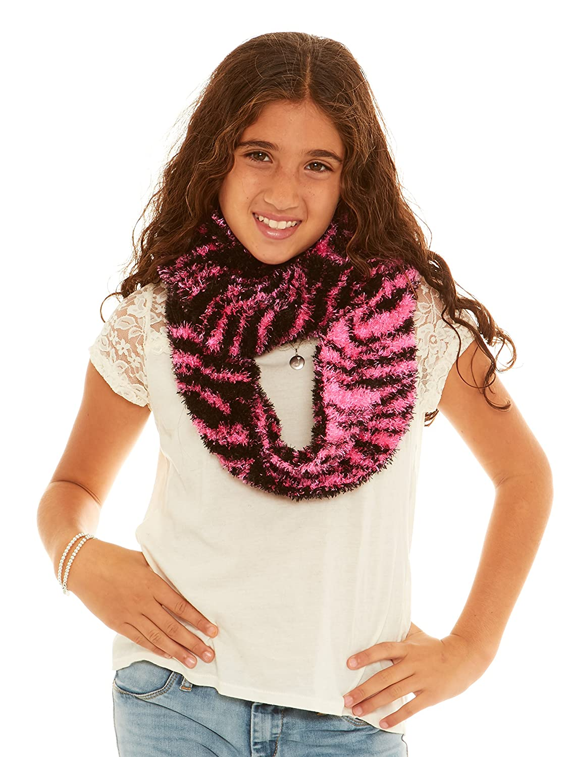 S.W.A.K Girls Loop Infinity Fashion Scarf B6B1553G-F