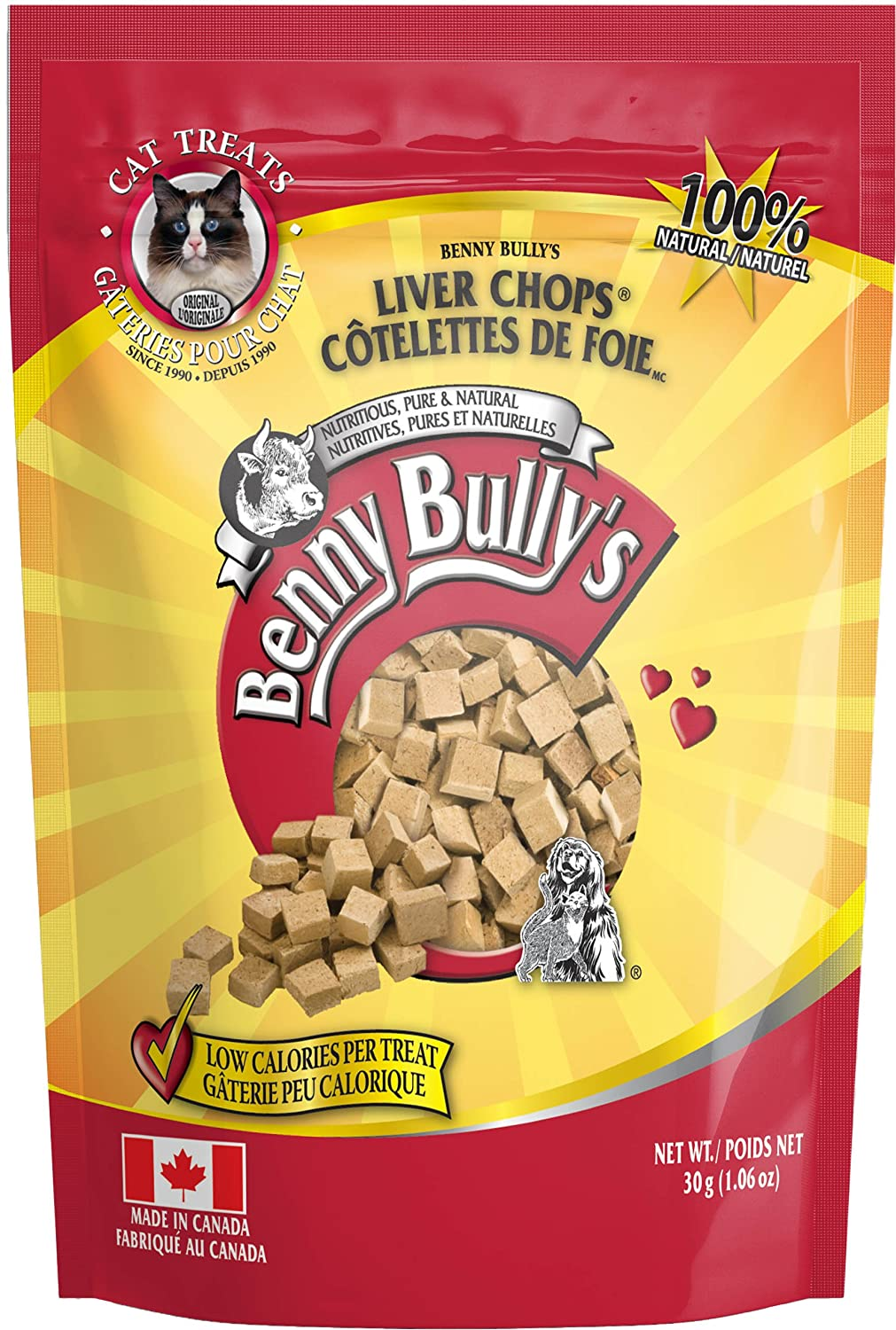 Benny Bullys 776310042848 Chops Beef Liver Cat Treats, 30g, Entry BennyBullys Sales Inc.
