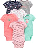 Simple Joys by Carter's Baby Girls 6-Pack Short-Sleeve Bodysuit Pink/Mint 0-3 Months