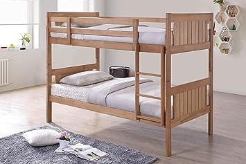 Etagenbett Holz Kinder : Etagenbett kiefer weiß mit matratzen und rollroste