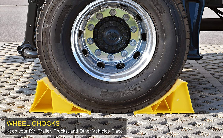 DishyKooker 2 st/ücke Unterlegkeile Stop Reifen Wohnmobilanh/änger Auto LKW Stopper Block
