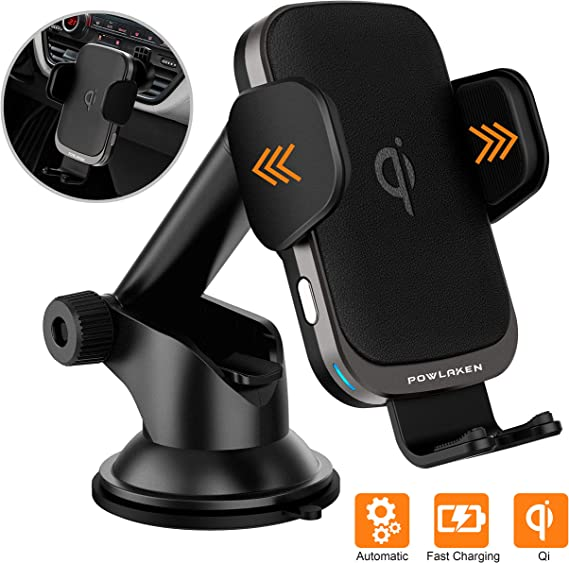 Updated 2020 Version Smart Automatic Car Phone Mount with Wireless Charger