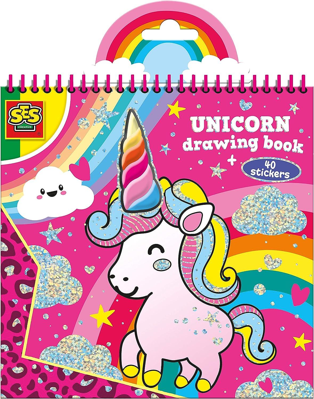 Amazon Com Ses Creative 00111 Unicorn Colouring Book Toys Games