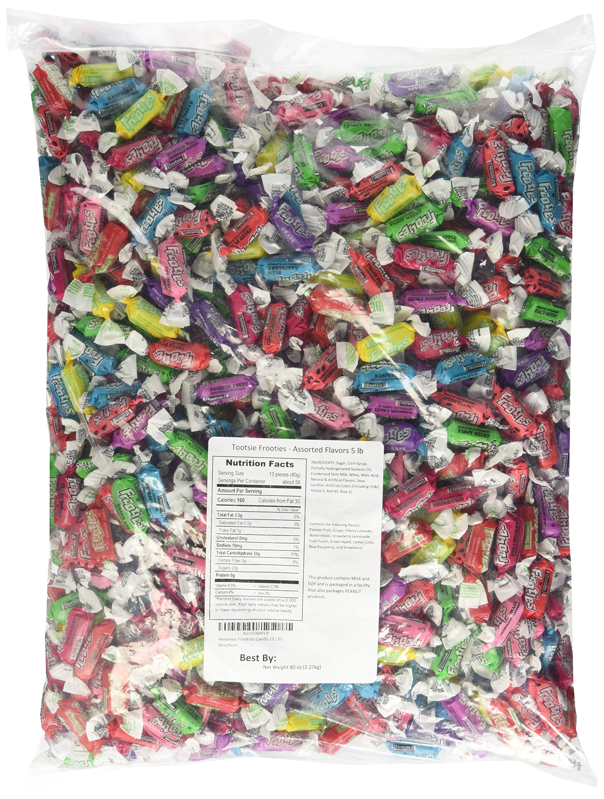 Tootsies frooties assorted 5lb (2.27kg) by Tootsie Roll