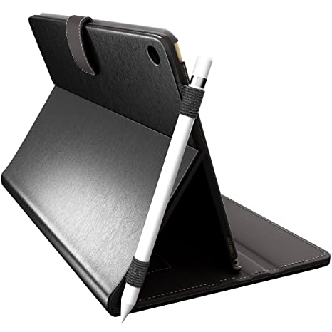 finest selection 04de8 39658 CUVR PREVENT PROTECT iPad Pro 10.5 Case Cover with Pencil Holder - Smart  Folio for 10.5-inch Apple (Black)