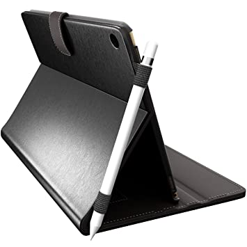 newest cec47 9c294 iPad Pro 10.5 Case with Pencil Holder by Cuvr | Folio Smart Cover Desk/Lap  Stand (Black)