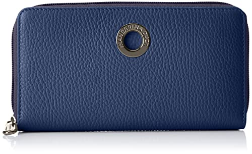 Mandarina Duck - Mellow Leather Portafoglio, Carteras Mujer, Azul (Eclipse), 2x10x19 cm (B x H T): Amazon.es: Zapatos y complementos
