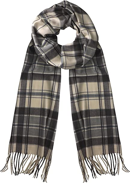 New Winter Warm 100/% Cashmere Feel Plaid Wraps Scarves Black
