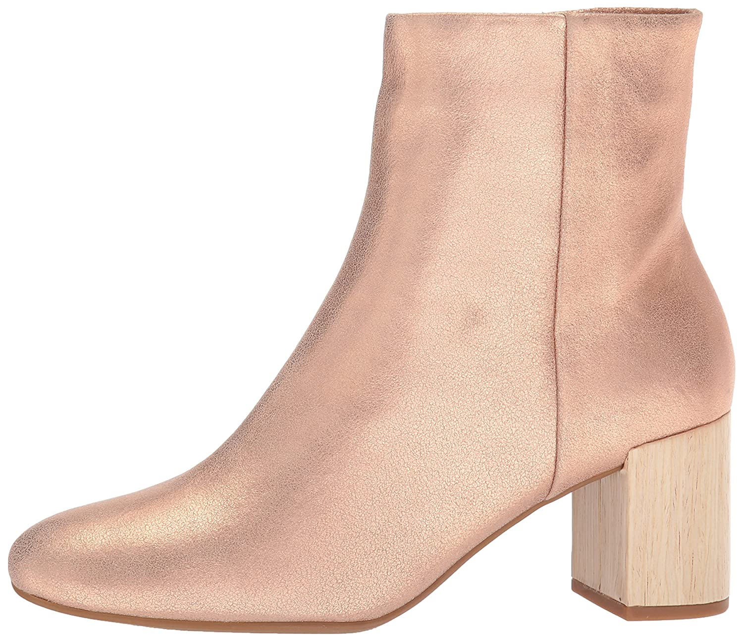 Taryn Rose Women's Cassidy Powder Metallic Ankle Boot B074B7ZQFF 6.5 M M US|Open Pink