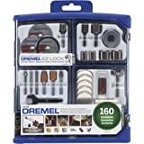 Dremel Rotary Tool Accessory Kit- 710-08- 160 Accessories- EZ Lock Technology- 1/8 inch Shank- Cutting Bits, Polishing Wheel