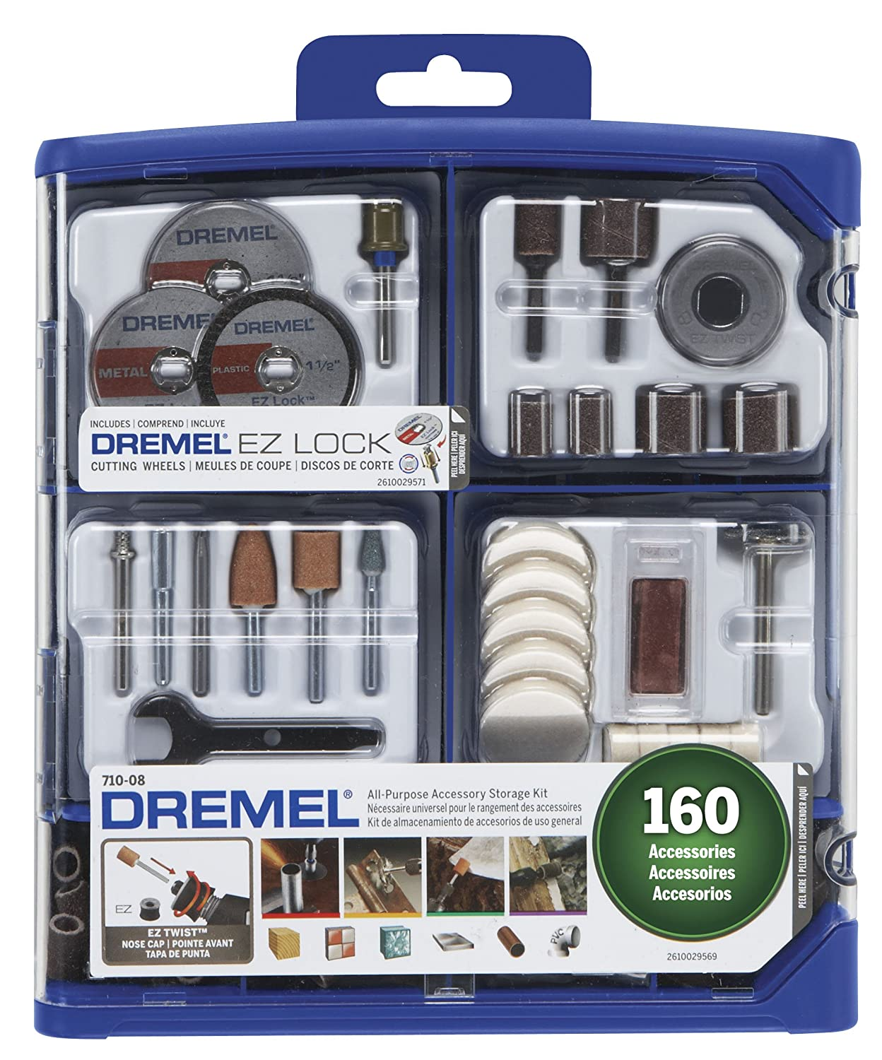 91XppR5umQL. SL1500  - Dremel 710-08 All-Purpose Rotary Accessory Kit, 160-Piece