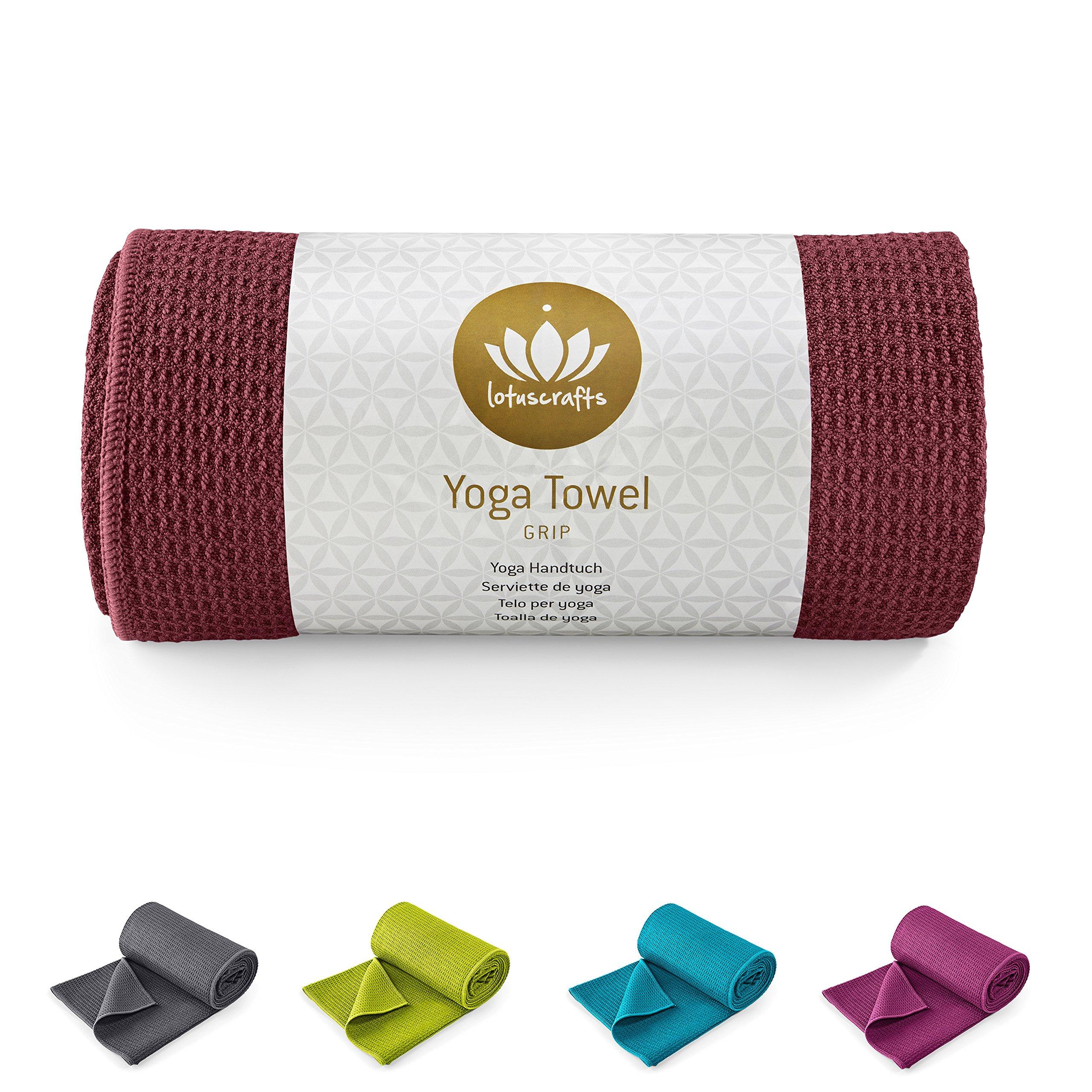 Lotuscrafts - GRIP - Toalla para hacer yoga - Antideslizante - 183 x 61 cm (