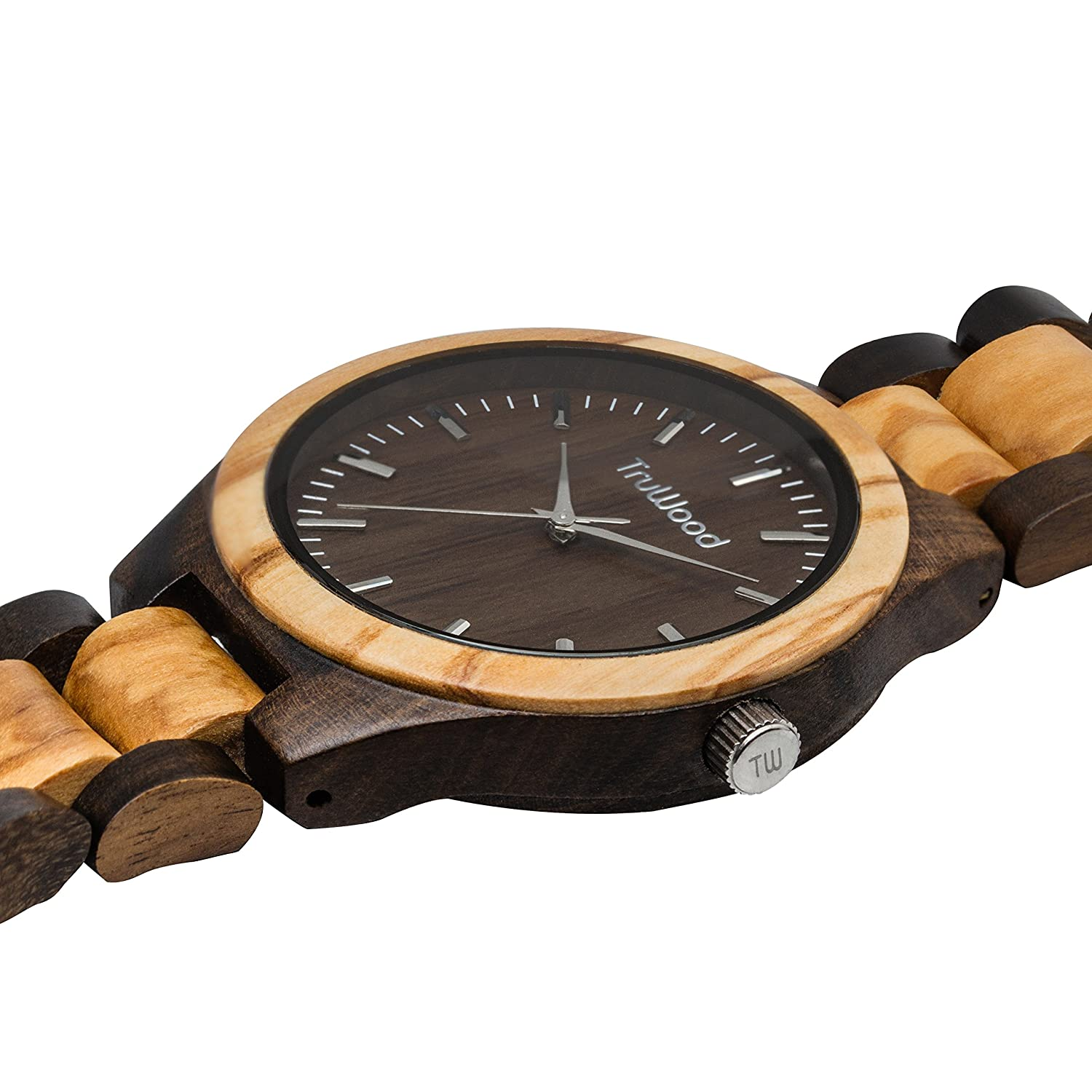 true truwood amazon hybrid zebrawood wood all dp watches watch band wooden and com with
