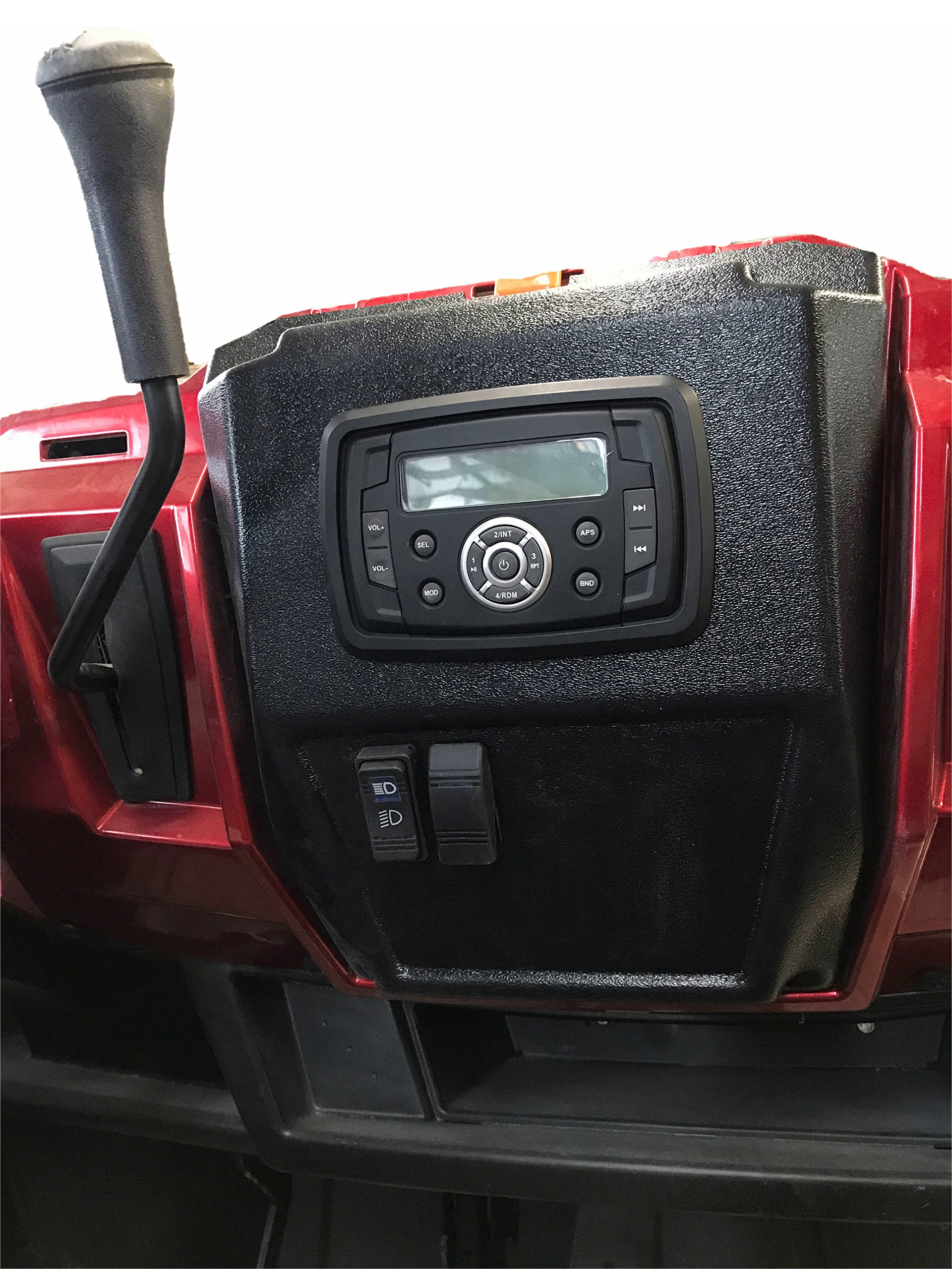 Polaris Ranger In-Dash Stereo Panel P/N: 13513-Blank-Black