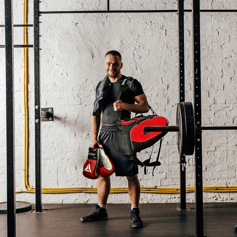 Amazon.com : RDX Gym Holdall Gear Bag Backpack Duffle Kit Sports Gymsacks Rucksacks : Sports & Outdoors