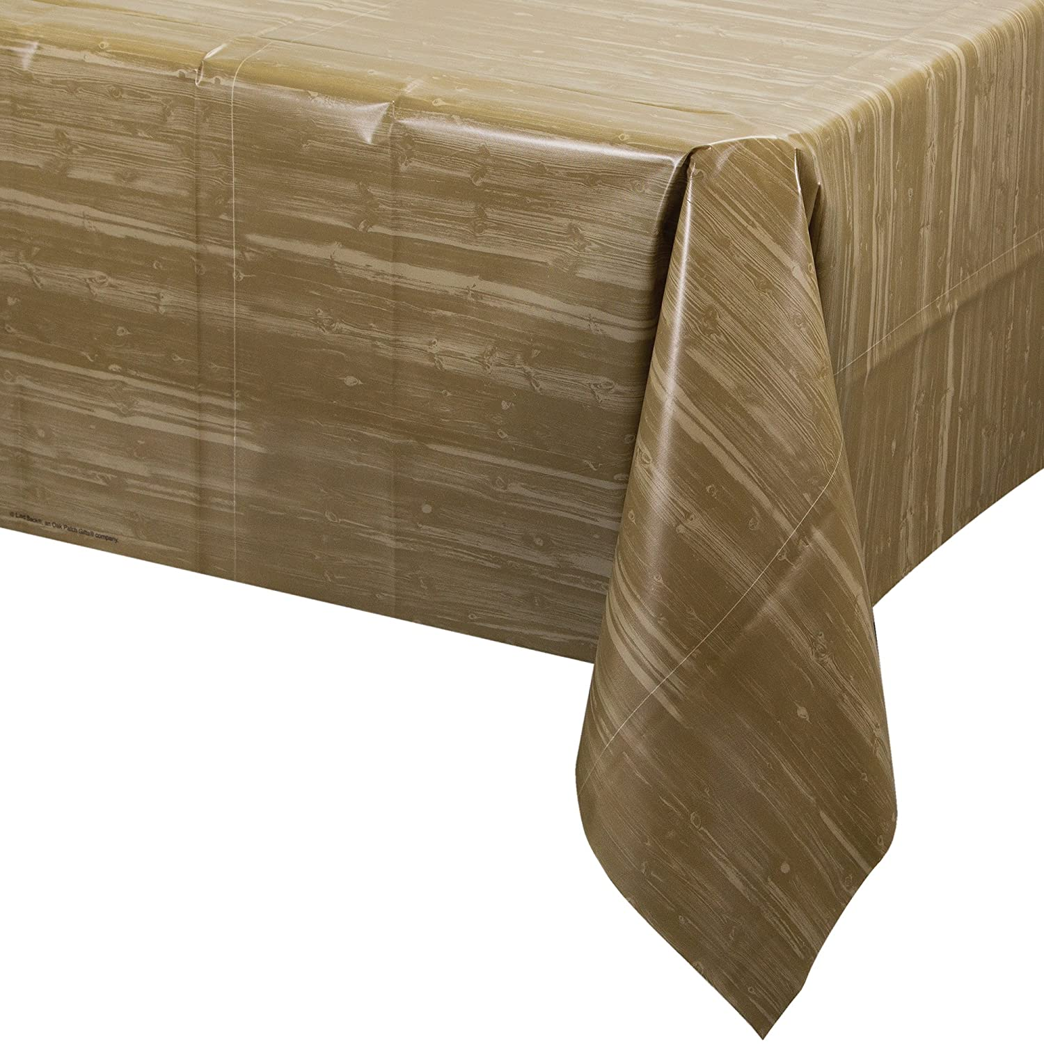 Amazon.com: Creative Converting All Over Woodgrain Print Plastic Banquet Table  Cover, Ole Fogey: Kitchen U0026 Dining