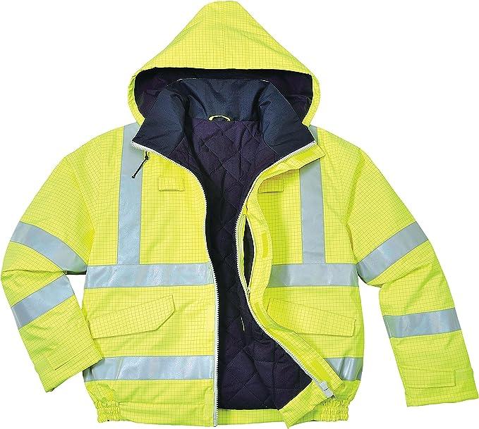 Portwest S773 color Amarillo talla 3 XL Bizflame de alta visibilidad chaqueta de bombardero