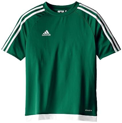 adidas Estro 15 JSY - Camiseta para hombre, color verde opalo / blanco, talla
