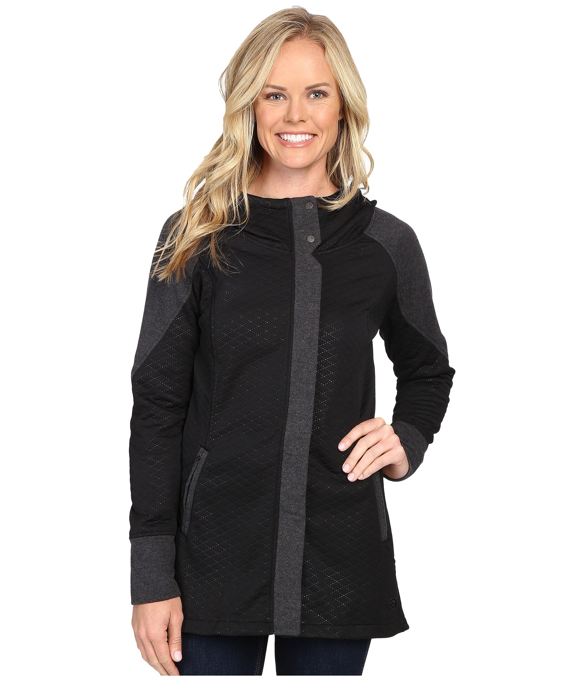 The North Face Recover-Up Jacket Womens TNF Black/TNF Dark Grey Heather Small